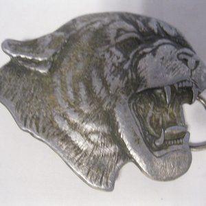 Bergamot Brass Work Mountain Lion 1977 Belt Buckle
